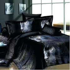 panther bedding black