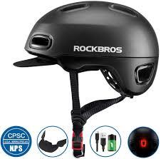 Rockbros Helmet With Lights Amazon Com Rock Bros Adult Bike Helmet Urban Commuter