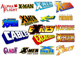 X-Men Comic Logo Icons Vol 1 by Meganubis on DeviantArt