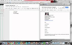Google Docs Business Letter Basics Youtube
