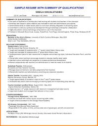 8 Resume Career Summary Letter Of Apeal