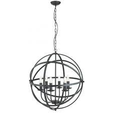 spherical lighting. Orbit Matt Black 6 Light Spherical Pendant Lighting S