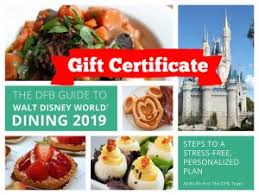 gift certificate dfb guide to walt disney world dining