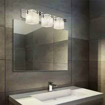 lighting in a bathroom. Clouds Polished Chrome Three-Light Bath Bar Lighting In A Bathroom