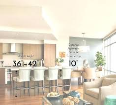 architecture kitchen island height standard for stool plan 7 what bar a