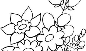 Disegno Di Fiori Di Primavera Da Colorare Per Bambini Con Immagini