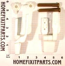 replacement toilet seat hinge universal fit plastic with bolts