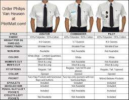 Van Heusen Trousers Size Chart What Are The Differences Between Philips Van Heusen Pilot