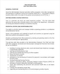 10 Office Clerk Job Descriptions Pdf Doc Free Premium Templates