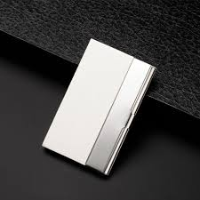 Stainless Steel Business Cards Eissely Pocket Stainless Steel Metal Business Card Holder
