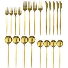4 шт./компл. <b>набор столовых приборов</b> черного золота <b>18</b>/10 ...