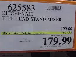 kitchenaid 4 5 quart tilt head stand mixer at costco