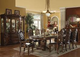 Vendome Dining Table In Dark Cherry By Acme - Formal dining room set