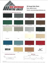 Standing Seam Roof Color Chart Metal Sales Colors Bathroomwallcabinet Co