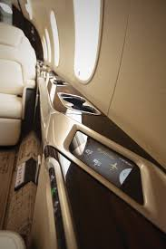 the lufthansa technik nice hd cabin management system has touchscreen panels at each seat that control lighting cabin rature and inflight