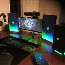 popular of laptop desk setup best ideas about gaming setup on computer setup