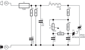 electronic lamp dimmer circuit