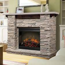 the dimplex featherston electric fireplace mantel package combines a 26 inch electric fireplace with a beautiful simulated stone fireplace mantel