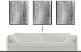 there are 2 types of measurements you will need height of the wall art and width between panels the graphic below indicates the placement of the art with  on wall art hanging height with how to hang multiple panel art swift decor