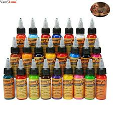 <b>New 16pcs Colors</b> Eternal Tattoo Ink Set Pigment Bottle Permanent ...