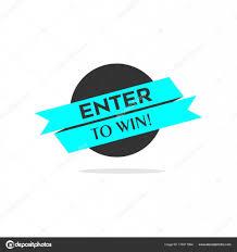 Design To Win Enter To Win Sign Design Stock Vector Motokiwo 178311964