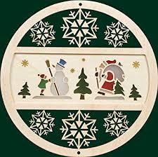Fensterbild Aus Holz Winterwald Seiffen Fensterdeko