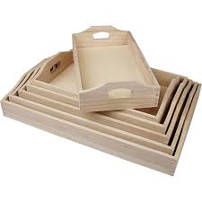 Trays Wood 6 Pieces