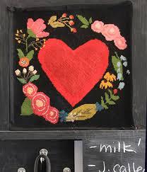 Valentinstag malvorlagen kostenlos zum ausdrucken. Needlepoint Stramin Vorlage Herz Mit Blumenkranz Im Folklorestil Www Dkw Construction De