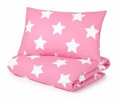 pink stars duvet set