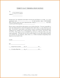 30 Day Notice Template Awesome 44day Notice To Terminate Tenancy Letter Invsiteco