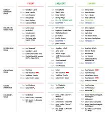 Entertainment Schedule Festa Italiana