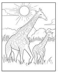 Giraffes Coloring Pages Giraffe Coloring Pages Baby Giraffe Coloring