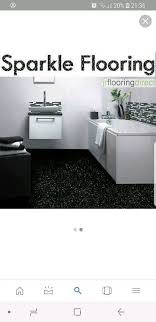 black sparkle vinyl flooring