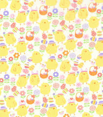 Joann Fabrics Patterns New Easter Fabric 48''Easter Chicks JOANN