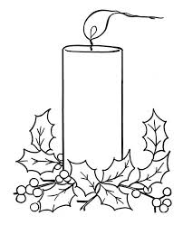 Small Picture Christmas Candle on Light on Christmas Coloring Page Color Luna
