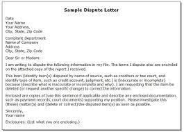 Sample Disagreement Letters