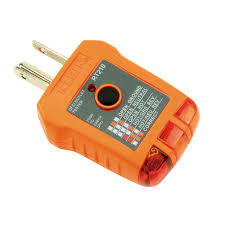 All 3 Lights Lit On Outlet Tester Gfci Receptacle Tester Rt210 Klein Tools For