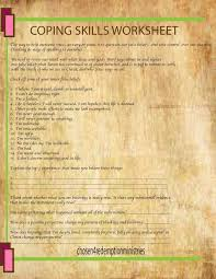 Coping Skills Worksheet – Mommy on a Mission Project