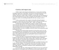 essay on respecting others co essay on respecting others