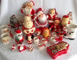 vintage christmas decorations   Vintage Christmas Santa Claus Decorations -  1940s-1980s - 28 Pieces