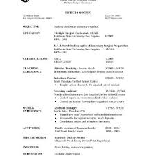 Sample Curriculum Vitae Special Education Teacher New Special ...
