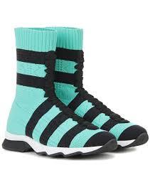 Sneakers With Yarn Design Fendi High Top Sneakers Fendis Runway Sneakers Have