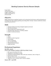 Good Banking Entry Level Customer Service Skills Resume Plus Writing  Objective Statements 10 Entry Level Customer
