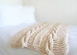 Cable Knit Blanket Pattern Magnificent Decorating Design