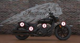 2018 indian scout bobber motorcycle thunder black