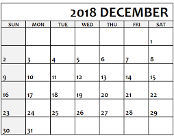 December Calendar Excel December 2018 Calendar Excel Blank Printable Template With Holidays