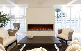 linear electric fireplace. 60 Black Kennedy Linear Electric Fireplace