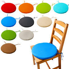 round bistro circular chair cushion seat pads kitchen dining removable cover new
