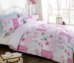 pink duvet quilt cover bedding bed set single double king shab within pink bedding sets pink
