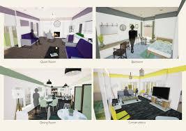 york st john interior design students